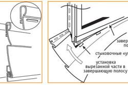 Рисунок 2. Монтаж сайдинга вокруг выступающих объектов