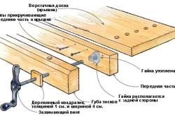 Сборка передней части стола