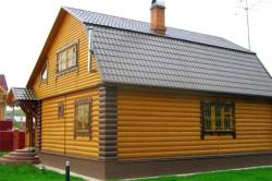 Дом, отделанный блок-хаусом