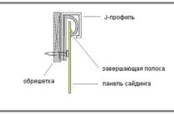 Установка завершающей полосы винилового сайдинга под оконным проемом