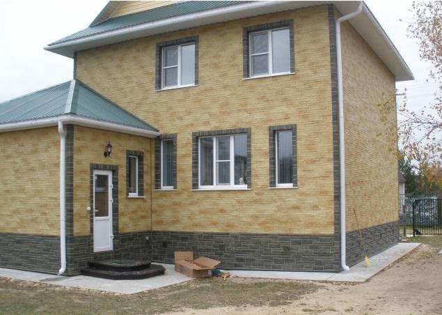 Дом, оформленный сайдингом