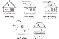 Расчет количества сайдинга для фронтонов крыши