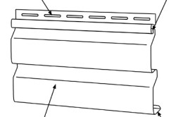 Схема оконной планки сайдинга