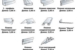 Виды деталей сайдинга для облицовки стен