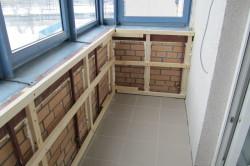 Монтаж обрешетки на балкон