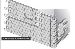 Схема стыковки панелей цокольного сайдинга