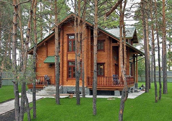 Натуральный цвет сайдинга в оформлении фасада