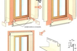 Схема монтажа сайдинга на окно