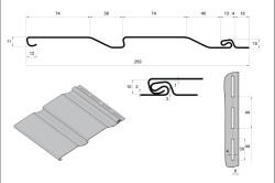 Схема формы и размеров листа винилового сайдинга.